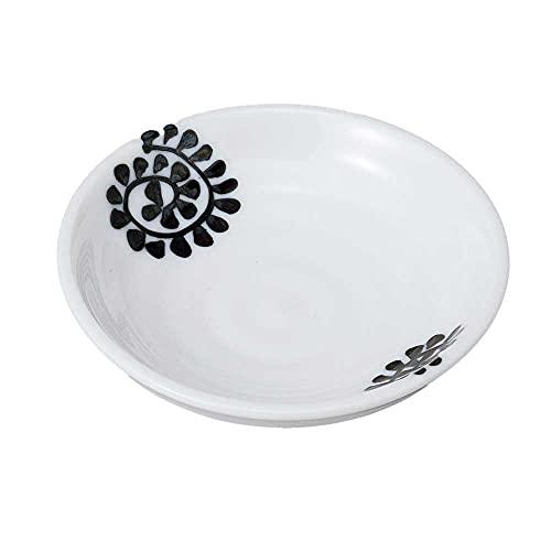 小皿 醤油皿/ タコ唐草黒3.0皿 /刺身 お新香 梅干し 珍味 陶器 業務用 家庭用 Small sized Plate
