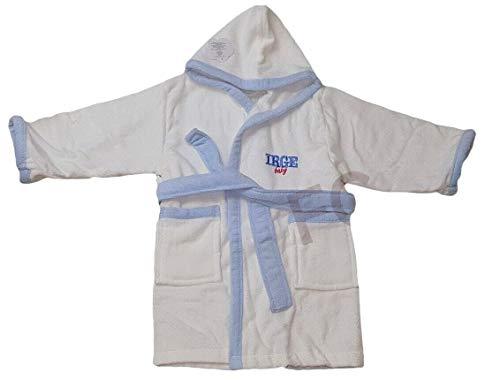 DEMONA Accappatoio Neonato NEONATA Bimbi Baby in Cotone CINIGLIA 12 18 24 Mesi con Tasche Cappuccio IRGE Offerta Vari Colori Bicolore Tinta Unita (CINIGLIA/Bianco Azzurra, 18/24 Mesi)