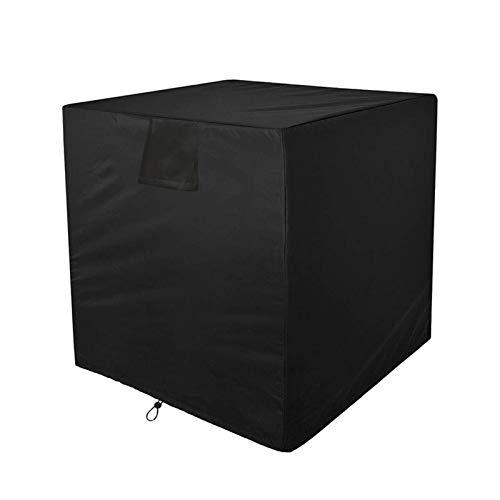 æ— Funda para aire acondicionado de ventana, impermeable, para aire acondicionado al aire libre, bolsa de almacenamiento, protección con cuerda de amarre para el hogar (61 x 61 x 76 cm)