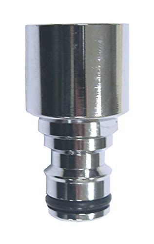 Boutté ADF22 mélangeur Cuisine Adaptateur de brise jet automatique femelle 22x100 chrome, Argent