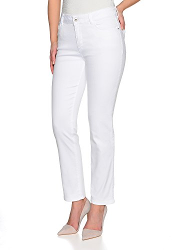Stooker Damen Stretch Jeans Hose - Zermatt - Slim FIT - White/Weiss - Arzthose, Krankenpflegerin (36W x 30L)