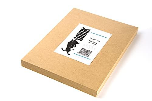 blank - MDF Platte in der Stärke 3 mm für Bastelholz, Modellbau, Laserschnitt, Laserbearbeitung, Kreativ, Hobby (10 Stück, 30x40 cm 3mm)