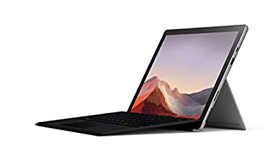 """Microsoft Surface Pro 7 – 12.3"""" Touch-Screen - 10th Gen Intel Core i5 - 8GB Memory - 128GB SSD (Latest Model) – Platinum with Black Type Cover from Microsoft"""
