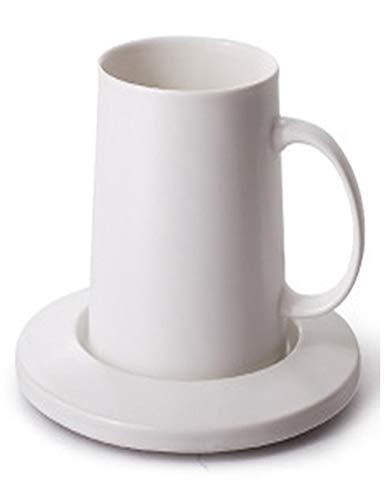SJQ-coffee pot Tasse à Café en CéRamique CréAtive EuropéEnne - avec Marbre/Mat/Matte avec Base - Usage Domestique 1,62 Onces, Noir/Blanc