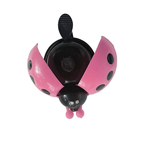 Wxhkj Bike Electric Bell,Bicycle Electronic Horn,Waterproof Smart Electronic Horn,Cute Ladybird Bicycle Bell For Children Bicycle (pink)