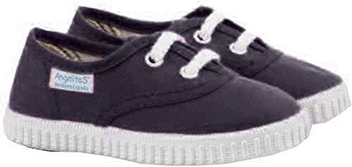 Zapatillas de Lona para Niños y Niñas, Angelitos mod.121, Calzado infantil Made in Spain, Garantia de Calidad. (33, Azul Marino)