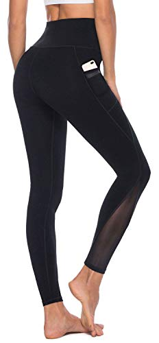AFITNE Yoga Pants for Women High Waisted Mesh Leggings Tummy Control Athletic Workout...