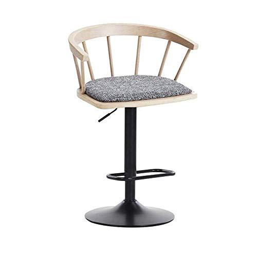 Silla de la barra de la barra de la barra de la barra de la barra de la barra de la barra del taburete con estilo minimalista de la silla giratoria de la silla de la silla de la silla (Color: a, Tamañ