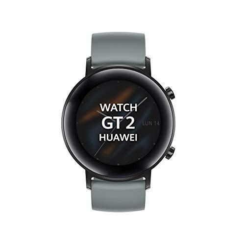 "Huawei Watch GT 2 Sport - Smartwatch con Caja de 42 mm, Hasta 1 Semana de Batería, Pantalla táctil AMOLED 1.2"", GPS, 15 Modos Deportivos, Pantalla 3D de Cristal, monitorización cardíaca, Color Cyan"