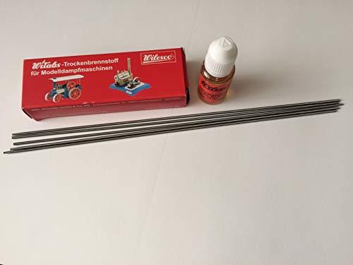 Wilesco Zubehör Set - WiTabs Trockenbrennstoff + Antriebsspiralen + Dampfmaschinenöl