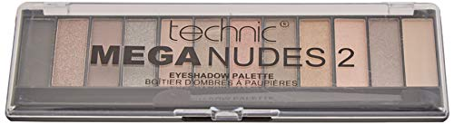 Technic Mega Nudes 2- Palette di ombretti dalla consistenza compatta, 12 pezzi
