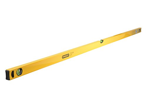 Stanley Wasserwaage Klassik (180 cm Länge, horizontale/vertikale Libelle, Schockabsorber, Genauigkeit ±0,5 mm/m) STHT1-43108