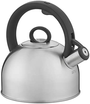 Cuisinart Aura Silver Stainless Steel Stovetop Tea Kettle 2 Qt CTK SS17N product image
