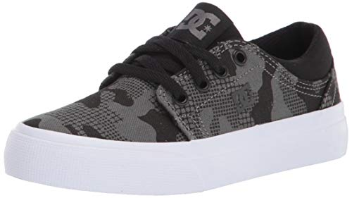 DC Boys' Trase Skate Shoe, Black/Camo, 3 M US