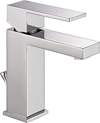 Delta Modern Single-Handle Bathroom Faucet with Drain Assembly, Chrome 567LF-PP (Renewed)
