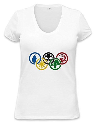Magic The Gathering Olympics Womens V-neck T-shirt Small
