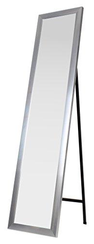 King Home S1710528 Specchio da Pavimento con Cornice, Silver, 30X150H