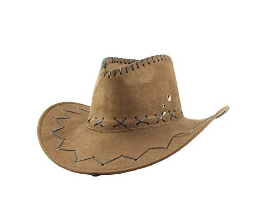 Carnavalife Sombrero Cowboy de Vaquero Toy Story Western Disfraz para Adulto y Niños YJ-24 (Beige Oscuro, Adulto/58cm)