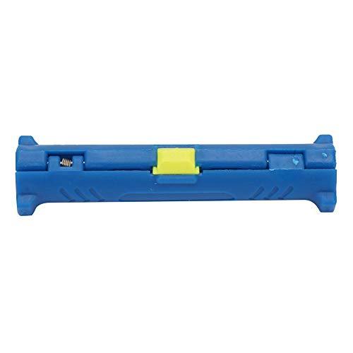 Pluma peladora de cables Multifunción Pelacables eléctrico coaxial Pluma rotativa Tipo de cuchilla peladora de alambre Línea de corte 4-8MM(Azul)
