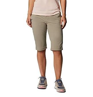 Columbia Women's Anytime Outdoor Long Short Shorts, tusk, 14x13