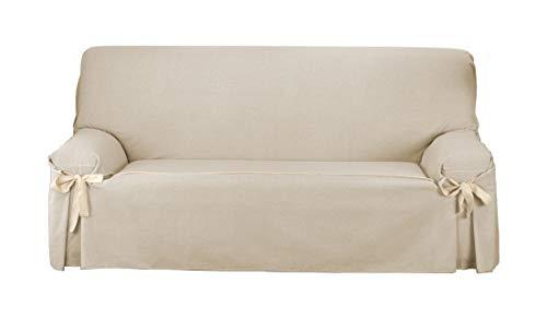 Martina Home Funda de sofá Lazos Turia 3 Plazas Crudo