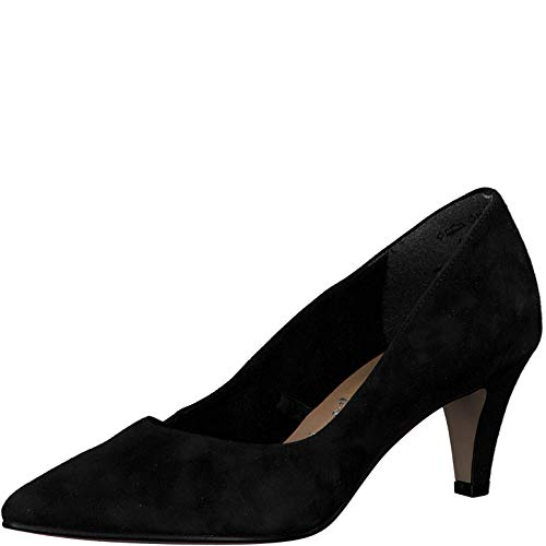 Tamaris Damen Pumps 22468-24, Frauen KlassischePumps, elegant Woman Abend Feier Court-Shoes Absatzschuhe Abendschuhe,Black,41 EU / 7.5 UK