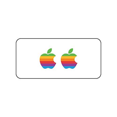 Lsmaa 2 stuks Apple Logo Sticker | MacBook Retro Sticker | iPhone Special Event Design (iPhone, Retro) Retro