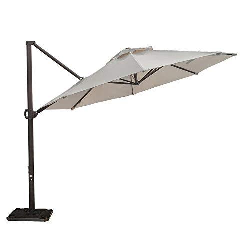Abba Patio 11 ft Patio Offset Hanging Umbrella Outdoor Cantilever Sturdy Umbrella with Crank & Cross Base & Easy Tilt, for Garden, Backyard, Pool and Deck, Beige