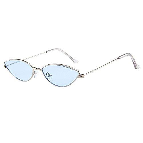 Battnot Sonnenbrille für Damen Herren, Unisex Vintage Katzenaugen Kleine Rahmen Oval Mode Anti-UV Gläser Sonnenbrillen Schutzbrillen Männer Frauen Retro Billig Cat Eye Sunglasses Women Eyewear