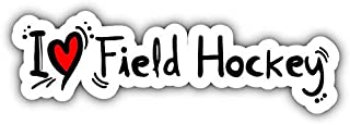 JJH Inc I Love Field Hockey Vinyl Decal Sticker Waterproof Car Decal Bumper Sticker 5