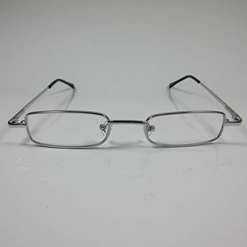CEPEWA kleine leesbril metaal +3,0 zilver kant-en-klare bril unisex flex beugel