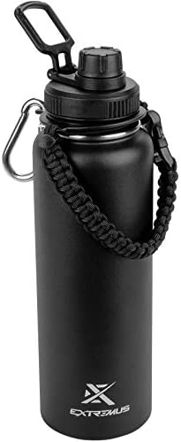 Extremus Deluge Stainless Steel Vacuum Insulated Sports Water Bottle with Wide Mouth 100 Leak product image