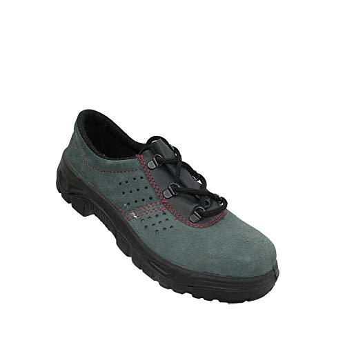 Zapatos de Seguridad S1 PSH los Zapatos Profesionales Negocio de los Zapatos Zapatos de Trekking Plana Verde B-Ware Trabajan, Tamaño:35 EU