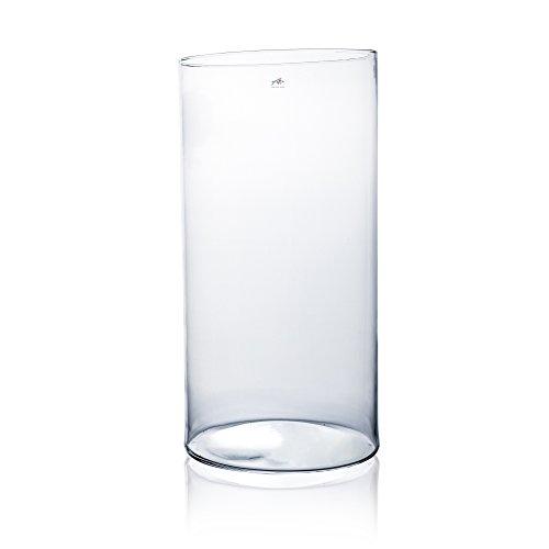 Glasvase CYLI klar zylindrisch 60 cm Ø 30 cm von Sandra Rich