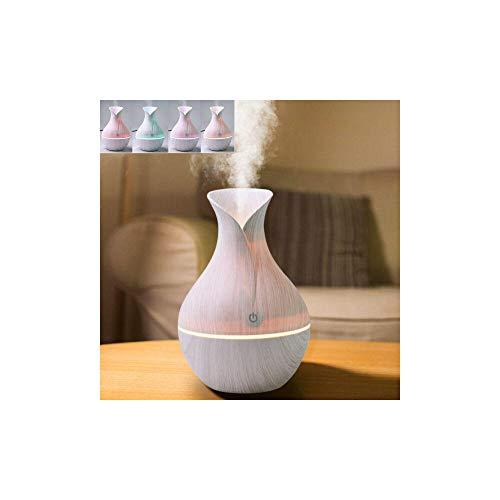 J&X Aroma difusor de aceites Esenciales purificador de Aire Led humidificador de Ambientes ultrasónico de aromaterapia Lámpara Aromática