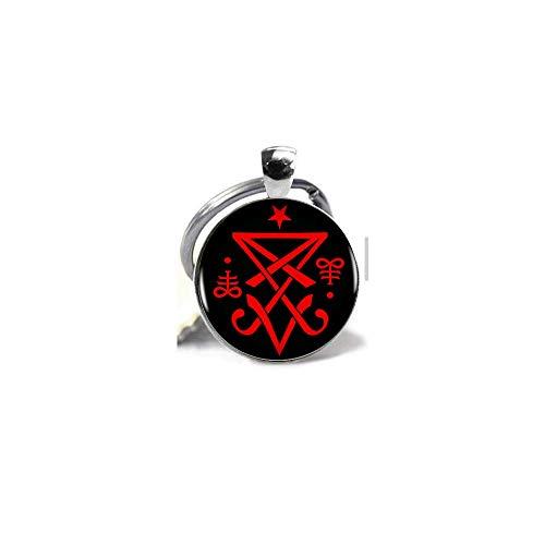 Okkultes Siegel von Lucifer, Satanischer Anhänger, Halskette, Schmuck, Geschenk, Schlüsselanhänger