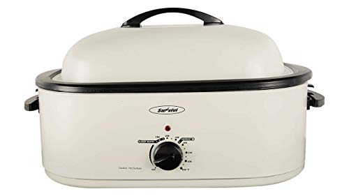18 Quart Electric Roaster Oven, Roaster Oven, Turkey Roaster Electric, Electric Roaster, Selfbasting Lid, Removable Pan, Full-Range Temperature...