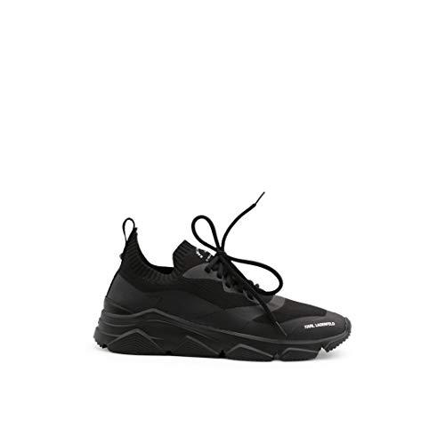 Karl Lagerfeld Chaussure KL51631 Couleur noire en tissu élastique avec logo Karl - Noir - Noir , 45 EU EU