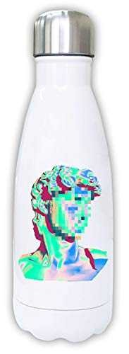 Vaporwave Aesthetic Glitch Greek Statue Print A Thermal Water Bottle