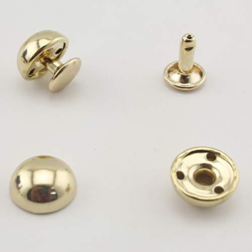 Dome rivetto e impostazione borsa rivetti Spike borchie rivetto in pelle rivetto per strumenti, making, vestiti, scarpe. 15 mm Golden P135