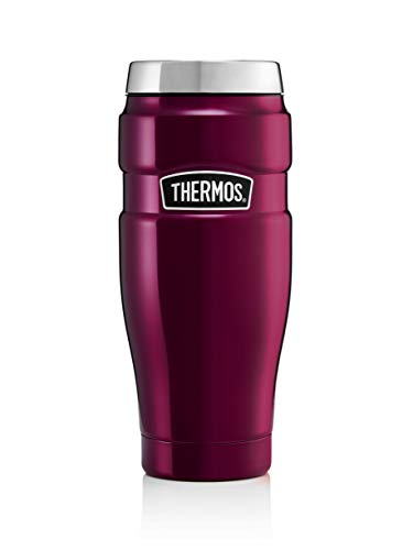 Thermos King Reise-Thermobecher, Edelstahl, 470 ml, edelstahl, himbeere, 8.3 x 8.3 x 20 cm