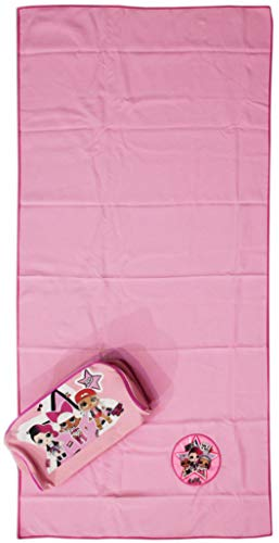 Lol Surprise microvezel handdoek 50 x 100 cm met beauty trousse