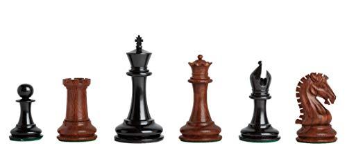 The House of Staunton - Camaratta Signature Cooke Luxury Chess Set - Pieces Only - 3.625' King - Mopane & Genuine Ebony