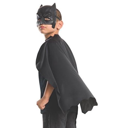 Rubie's 32669NS - Maschera e mantello di Batman ufficiale Dc Comics Warner Bros Dawn of Justice, per bambini