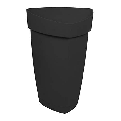 EDA Plastique - Vaso YSO GM Grigio Antracite –48,6x 47,3x 70cm, 58 L (con sottovaso)