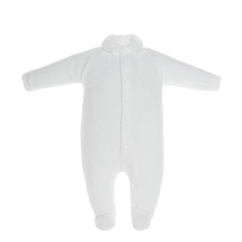 Cambrass 14335 - Pelele para recién nacidos, talla 56 cm (0 a 1 meses), color blanco