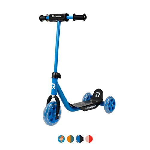 Retrospec Chippy 3-Wheel Kick Scooter for Kids, Toddlers, Girls and Boys with Padded Handlebars, PU Wheels, and Extra Wide Deck Perfect for Children