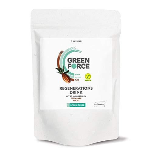 GREENFORCE Intense Veganes Proteinpulver Kakao aus Erbsen-Protein | leckerer Protein-Drink oder Shake zur Regeneration | veganer, glutenfreier Protein-Drink für Sport und Alltag | 1000 g, zuckerfrei