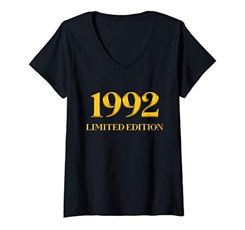 Mujer 29 Años Cumpleaños Hombre Mujer Regalo Deco Divertido 1992 Camiseta Cuello V