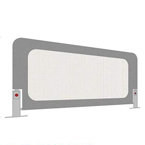 XJJUN Barrière De Lit Foldable Heightening Safety Cover Suitable for Children Barrière De Sécurité for Lit De Bébé Anti-Fall Big Bed, 2 Colors (Color : Gray, Size : 150x72cm)
